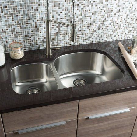 Hahn Classic Chef 32.38'' L x 20.5'' W Double Bowl Undermount Kitchen Sink