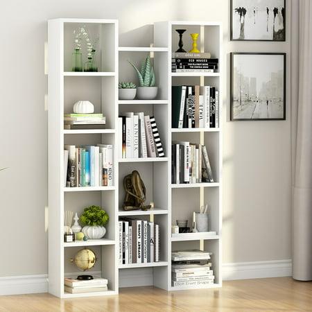 Tribesigns 5-Shelf Modern Bookcase, Organizer Storage Bookshelf for ...