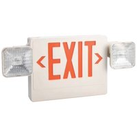LUMAPRO Exit Sign w/Emergency Lights,5.4W,Red 6CGL7