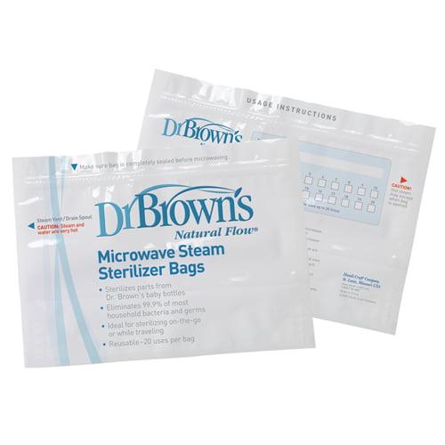 /& Microwave Steam Sterilizer Bags Dr Bottles Brown/'s Nipples