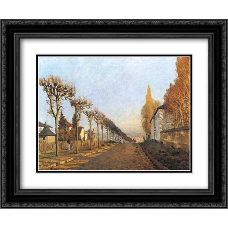 Chemin de la Machine, Louveciennes 2x Matted 24x20 Black Ornate Framed Art Print by Sisley, Alfred