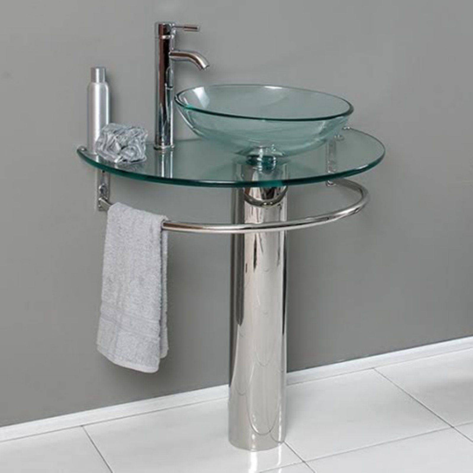 Belvedere 29.5 in. Modern Single Bathroom Vanity with Glass Sink by Belvedere Bath LLC