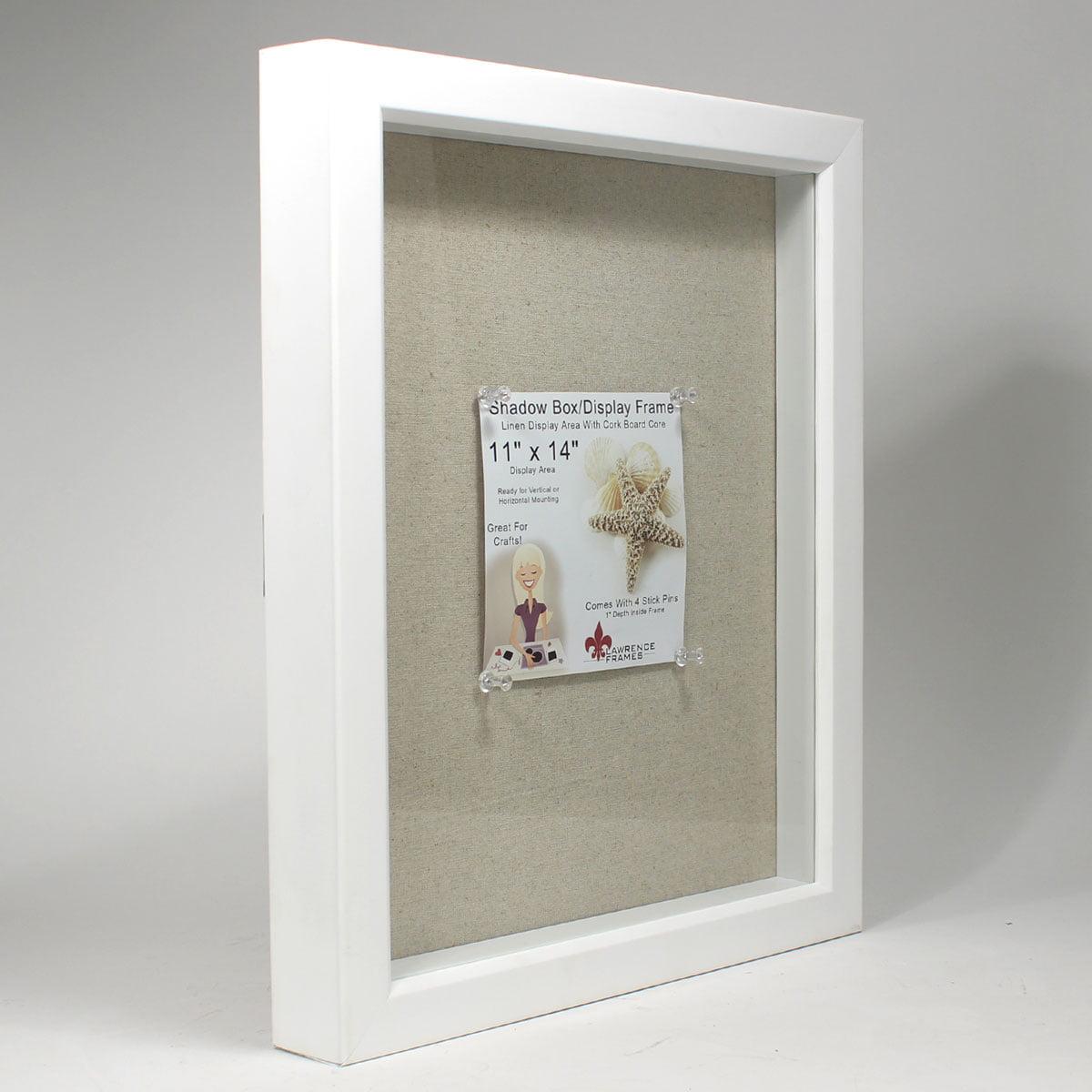 11x14 white shadow box frame linen inner display board walmartcom - White Shadow Box Frame