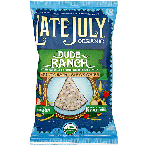Late July Organic Multigrain Dud Ranch Chips, 5.5 oz (Pack of 12)