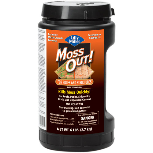 Lilly Miller Moss Out! Economical Concentrate for Roofs Moss Killer, 6 lbs