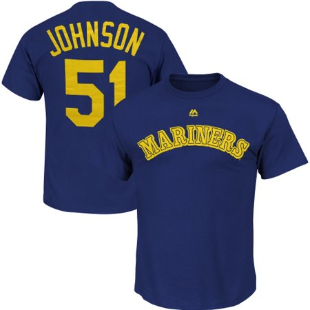 Randy Johnson Seattle Mariners Majestic Cooperstown Collection Name & Number T-Shirt - Royal -