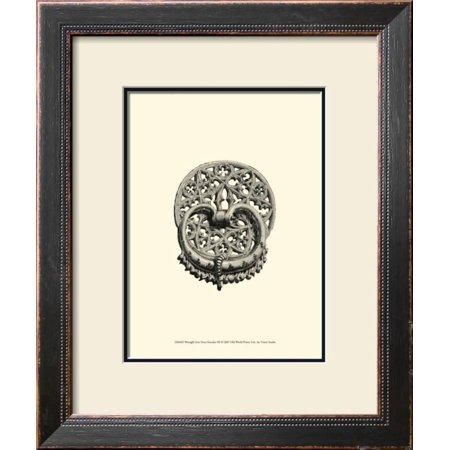 Wrought Iron Door Knocker III Framed Art Print Wall Art  - 18x13