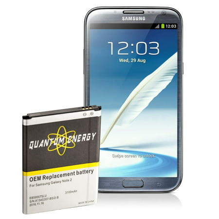 QUANTUM ENERGY Replacement Battery for Samsung Galaxy Note 2 i317, 2yr