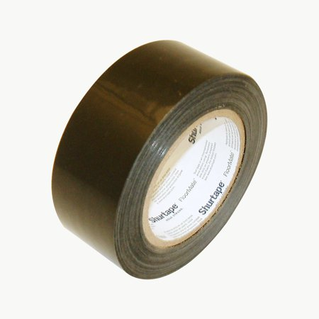 Shurtape PE-100 Temporary Flooring Tape: 2 in. x 60 yds. (Black) ()
