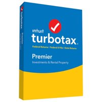 TurboTax Premier Tax Software 2017 Fed + Efile + State PC/MAC Disc