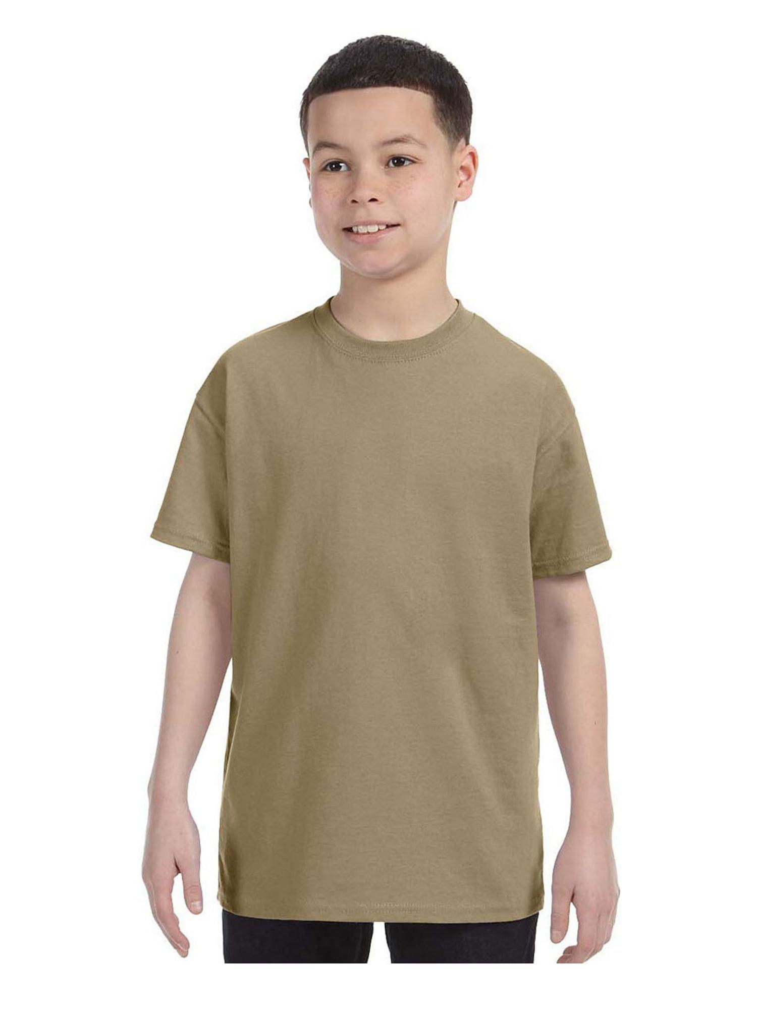 Jerzees Big Boy's Rib Collar Tear Away Label T-Shirt, Style 29B