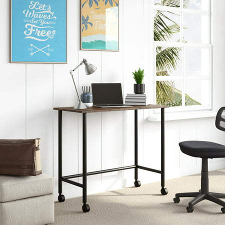 Mainstays Beckett Kids Metal Rolling Writing Desk