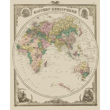 International Map - Eastern Hemisphere - 23 x 28.15 - Walmart.com