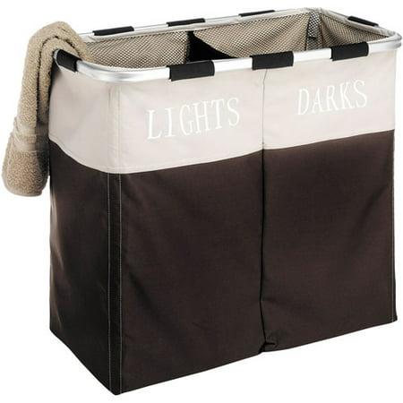 Whitmor Easycare 174 Double Laundry Hamper Lights And Darks