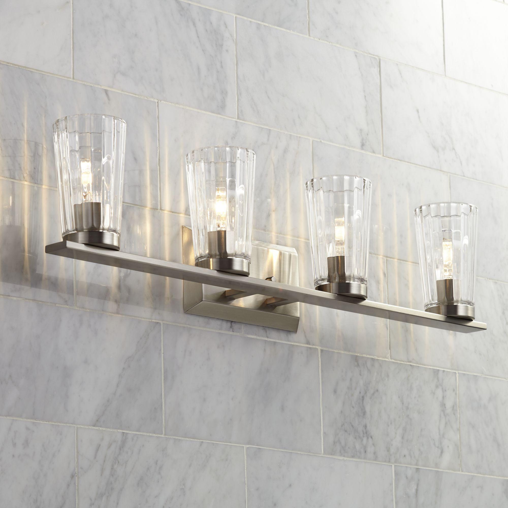 Possini Euro Design Porter 32 14 Wide Beveled Glass 4 Light Bath