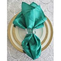 "Wedding Linens Inc. 10 pcs 20""x 20"" Premium Pintuck Taffeta Table Linen Napkins for Party Wedding Reception Catering Dining Home Restaurants - Jade"
