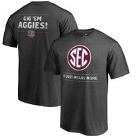 Texas A&M Aggies Fanatics Branded SEC Means More T-Shirt - Heathered Charcoal