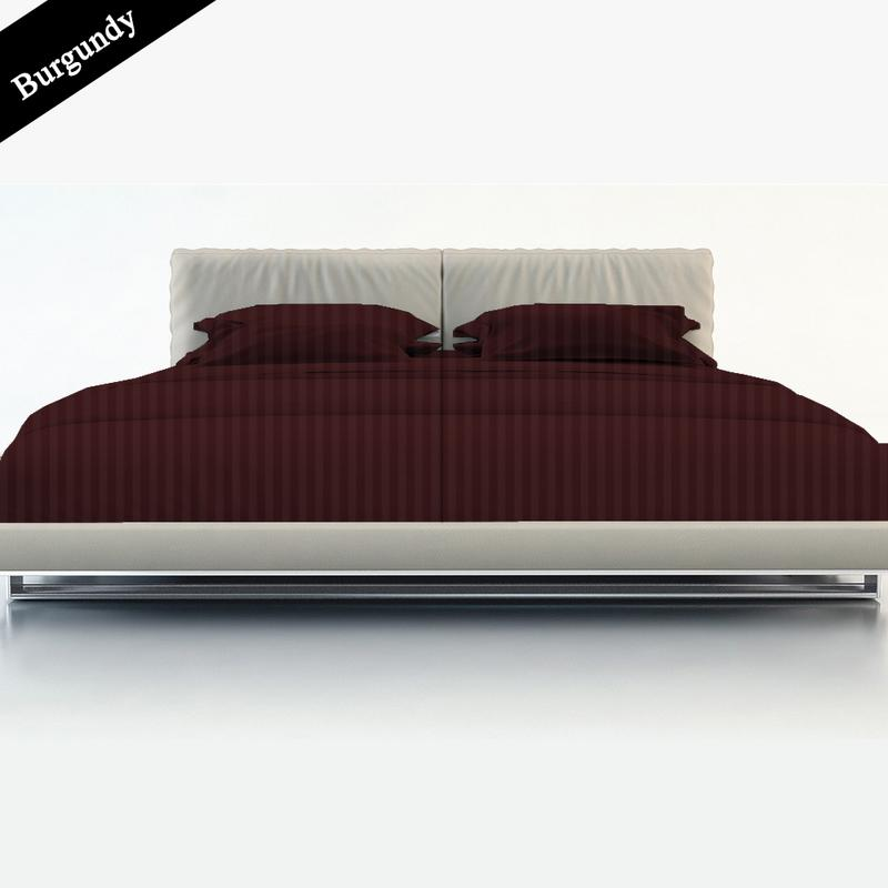 ALL Size /& ALL Deep Pocket Burgundy Solid Bed Sheet Sets 100/% Cotton 400-TC