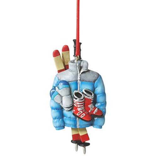 Ski Gear Resin Ornament Boots, Skis, Poles, Gloves and Jacket by Midwest