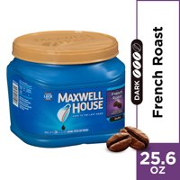 Maxwell House Dark French Roast Ground Coffee, Caffeinated, 25.6 oz Can