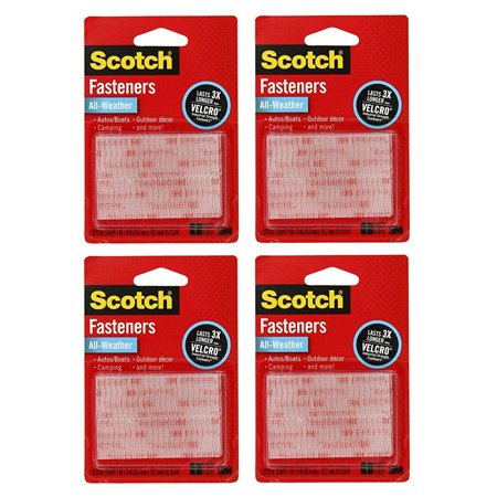 3M Scotch All Weather Ezpass Ipass Fastlane Toll Fasteners  8 Sets Of 1 Inch X 3 Inches Strips  Clear  Rfd7090