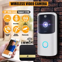 IR Night Vision 2.4G 1080P Smart Doorbell with Indoor Chime for Home Security