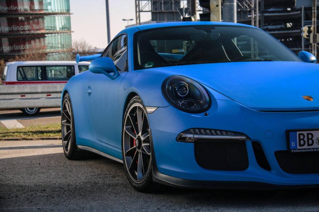 vinyl car auto wrap film pick size VViViD Gloss Smurf Blue Riviera Porsche GT3