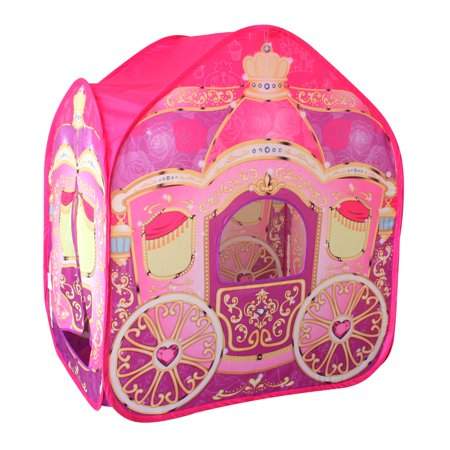 POCO DIVO Princess Carriage Cinderella Wagon Pop-up Play Tent Girls Pretend Playhouse