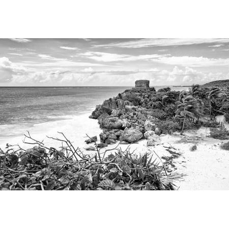 ¡Viva Mexico! B&W Collection - Tulum Riviera Maya V Print Wall Art By Philippe Hugonnard