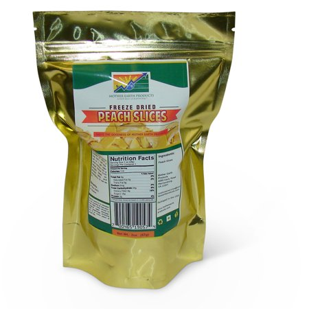 Freeze Dried Peach Slices, 2 cup Mylar Bag