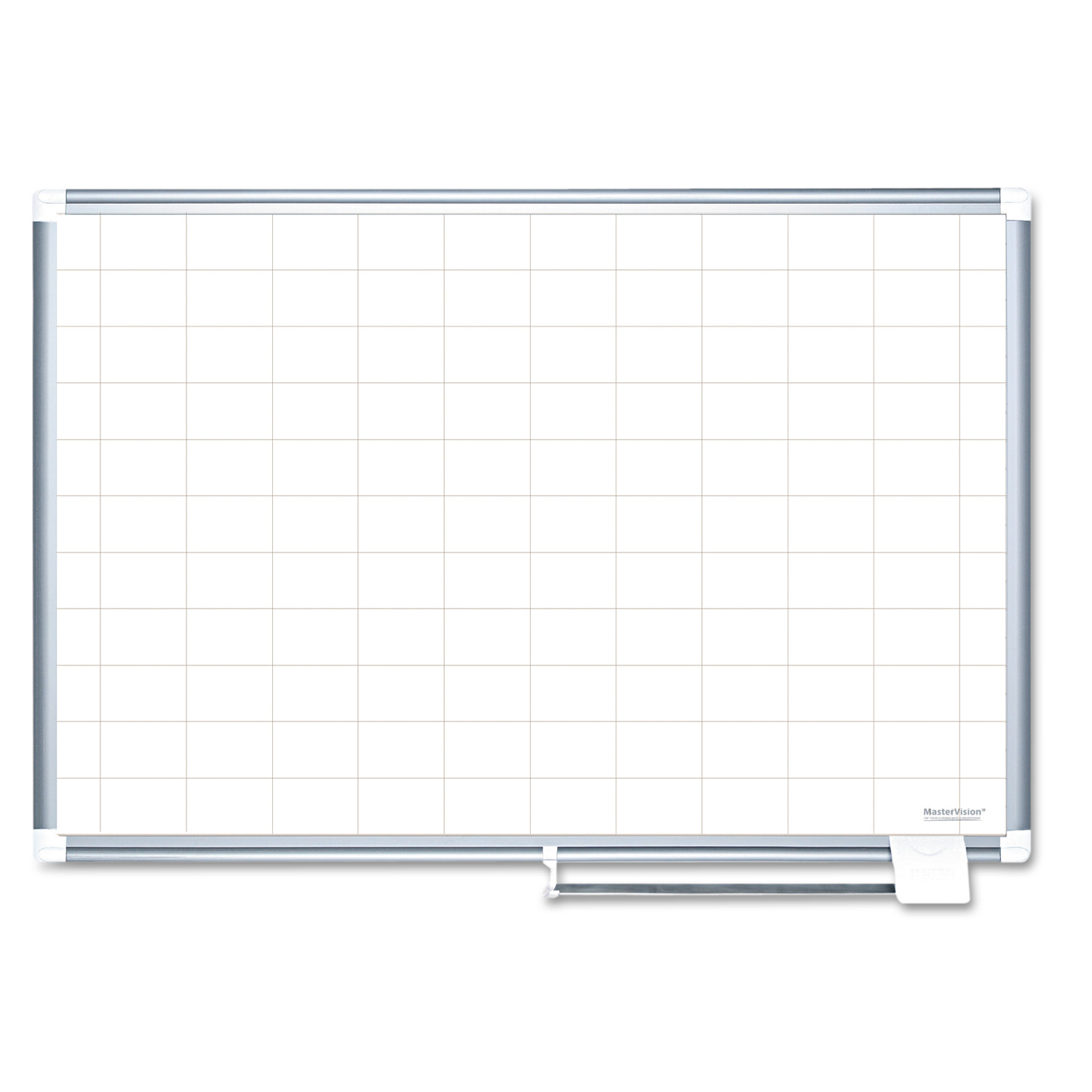 MasterVision Grid Planning Board, 2x3 Grid, 72x48, White Silver by BI-SILQUE VISUAL COMMUNICATION PRODUCTS INC