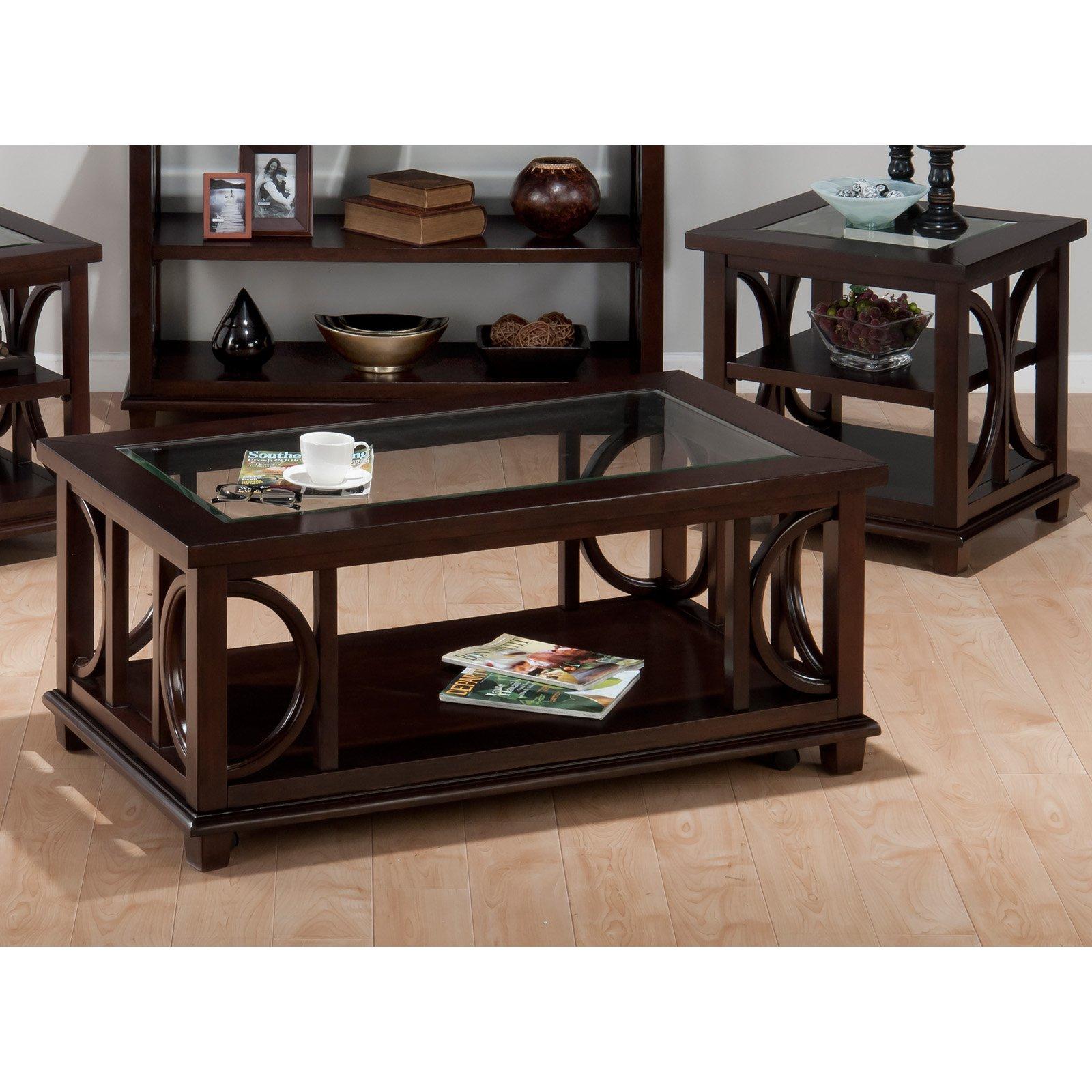 Jofran Panama Rectangular 3 Piece Coffee Table Set