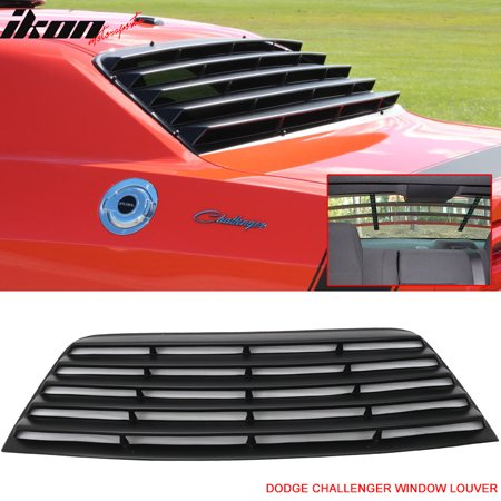 Fits 08-16 Dodge Challenger Rear Window Scoop Louver Sun Shade Cover Vent PUR