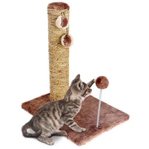 "Cat Craft 20"" Sea Grass Scratcher with Toy"