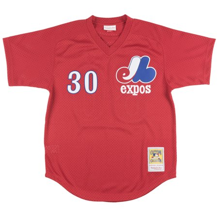 Mitchell And Ness 89 Tim Raines Montreal Expos Mesh Batting Practice Jersey Red