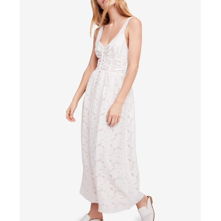 Free People Fresh As a Daisy Embroidered Maxi Dress Ivory - Cool People To Dress Up As