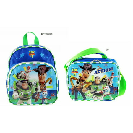 """NEW Disney Toy Story 4 Backpack 10"""" Matching Lunch Bag 2-Piece - TODDLER"""
