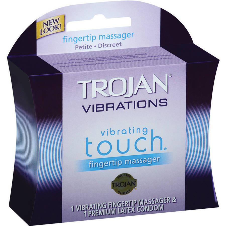 Trojan Fingertip Vibrator Trojan Her Pleasure Fingertip Vibrating Touch Massager 1