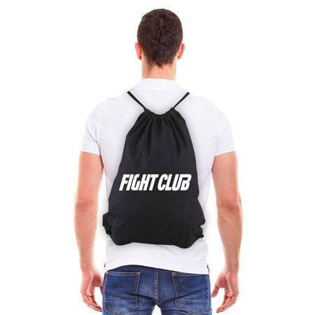 FIGHT CLUB Fighting Boxing Eco-Friendly Draw String Bag Black & (Best Boxing Fights 2019)