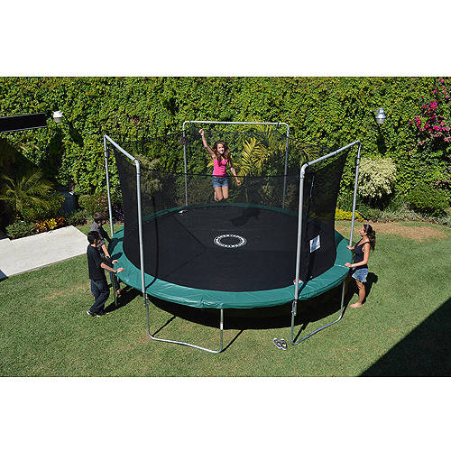 BouncePro by Sportspower 15' Trampoline and Enclosure with Game
