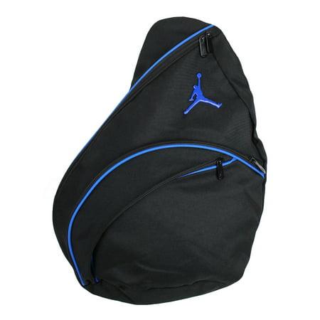 b529daa992d Jordan - Nike Jordan Jumpman Sling Bag Black Blue 9A1134-383 113 -  Walmart.com