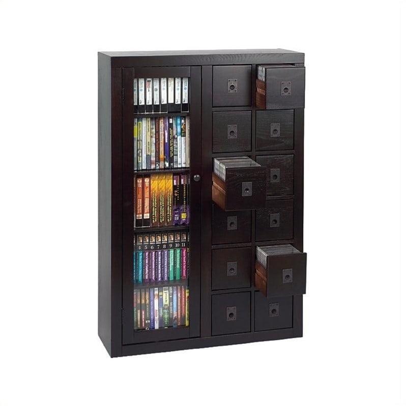 "Leslie Dame 41"" Library Media Storage Cabinet-Espresso"