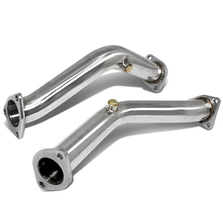 For 2003 to 2007 Nissan 350Z Stainless Steel Turbo Downpipe / Dump Pipe - Fairlady Z Z33 Skyline G35 04 05 06 350z Cat Back Exhaust System