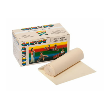 CanDo Low Powder Exercise Band, 6 yd Roll (Low Band)