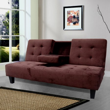 Twin Size Sofa Beds - Milton Green Madrid Futon Sofa Bed with Cup Holder