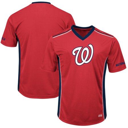 Men's Majestic Red/Navy Washington Nationals Big & Tall Memorable Moments T-Shirt