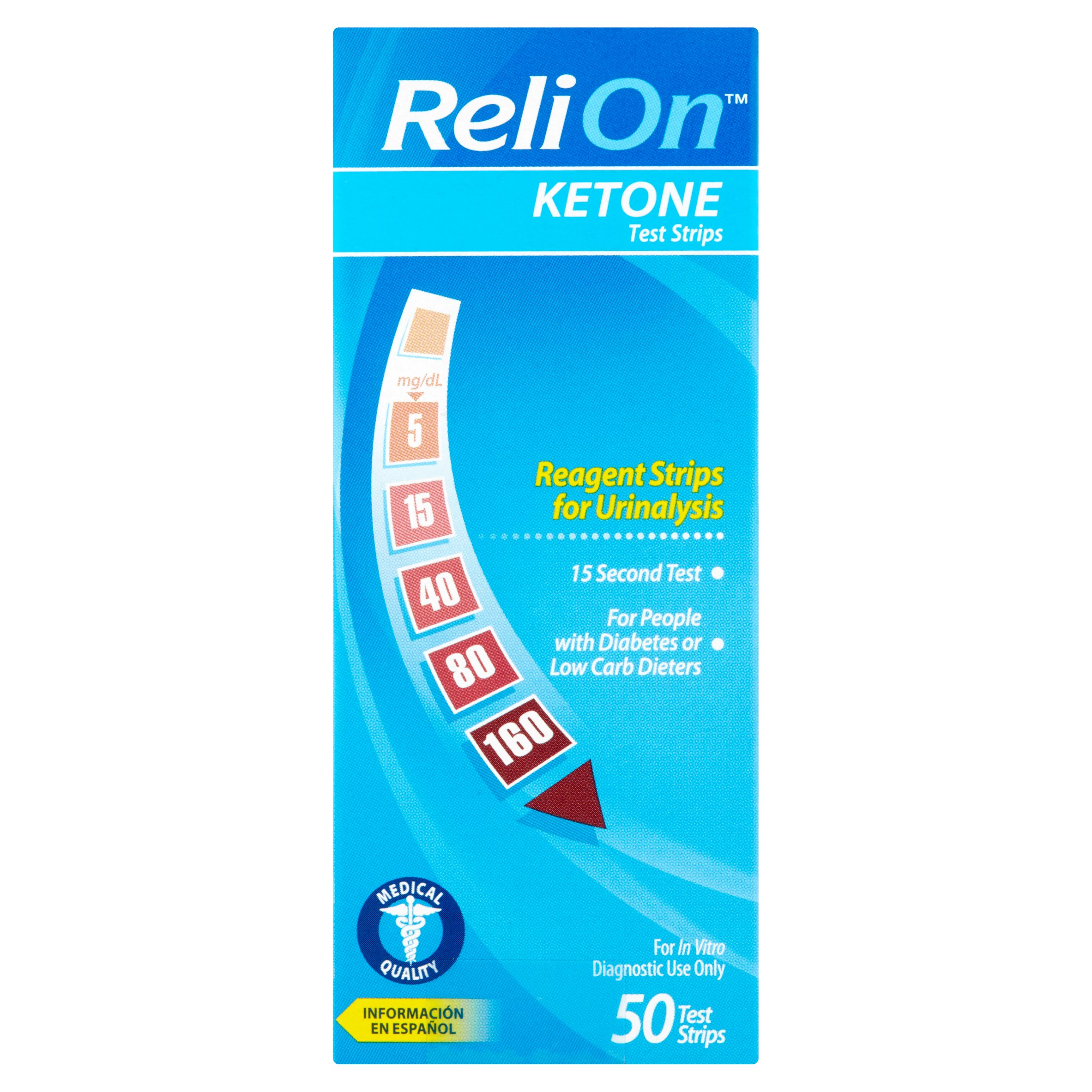 Reli On Ketone Test Strips, 50 count