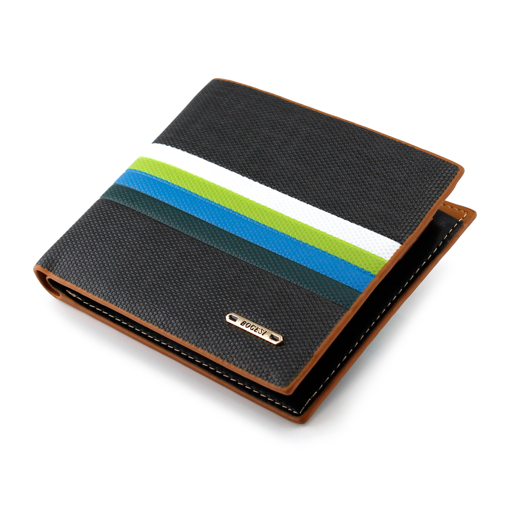 New Fashion Stylish Men's Leather Bifold Credit ID Cards Money Holder Slim Wallet Purse Clutch