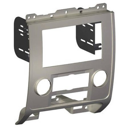 SCOSCHE FD1436B 2008-12 Ford Escape/Mercury Mariner/Mazda Tribute, ISO Double DIN and DIN+Pocket Mounting Dash Kit for Car Radio / Stereo Installation; Silver ()