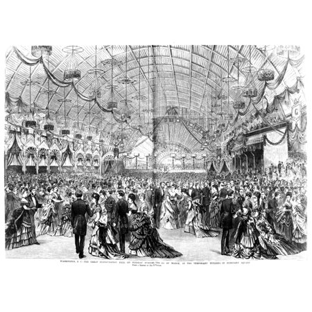 - Inaugural Ball 1873 Ninaugural Ball Given For The Second Inauguration Of President Ulysses S Grant On 4 March 1873 Wood Engraving From A Contemporary Newspaper Rolled Canvas Art -  (24 x 36)